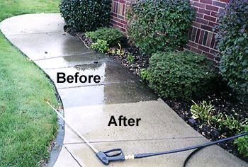 Concrete-power-washing-before-after